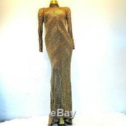 Rare Bob Mackie Womens 8 Dress Beaded (Fits like 6) $150 Restocking Fee Vintage