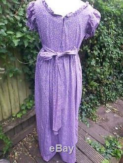 Rare Laura Ashley vintage Jane Austen empire line pretty flower dress size 12