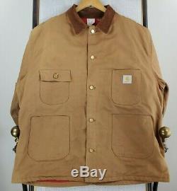 Rare VTG CARHARTT GM Grand Blanc Tank Shop Size 50 2XL Mens Jacket Coat WWII BOC