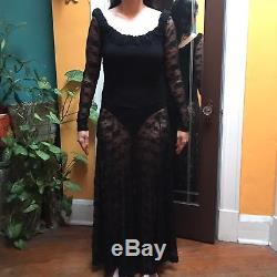 Rare Vintage Lace dress by Betsey Johnson 80s Punk Label (her first line)