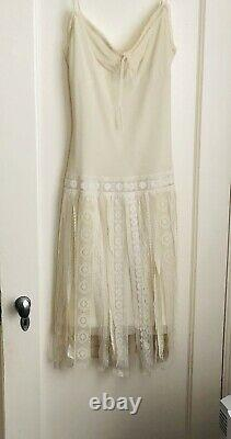 Rare Vintage Late 90s Betsy Johnson Dress. Double Lined. Unusual Lace On Skirt