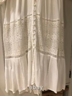 Rare Vintage Spell & The Gypsy, Gorgeous White Dress, Lace Detail SzM, NWT