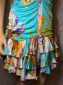 Roberto Cavalli Just Cavalli VINTAGE Silk Knit Strapless Dress Italian Size 44
