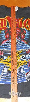 Ronnie James DIO vintage original RARE concert tee shirt Last In Line tour 1984