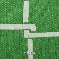 S Malcolm Star 1960s Dress Green A-line White Geometric Pattern Sundress 60s VTG