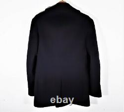 S Vintage Naval Clothing Depot Wool Pea Coat Navy WWII 40s 50s Overcoat USA 36