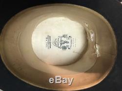 Size 7 3/8 Antique Brooks Brothers Top Hat with Silk Lined Leather Case