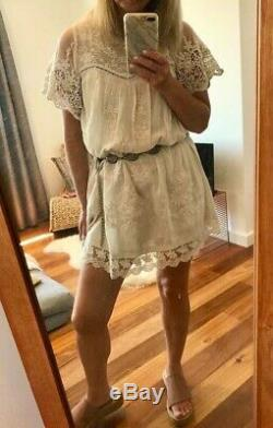 Spell Designs Gypsy Boho Maggie Embroidered Vintage Lace Tunic Dress Top Bnwt M