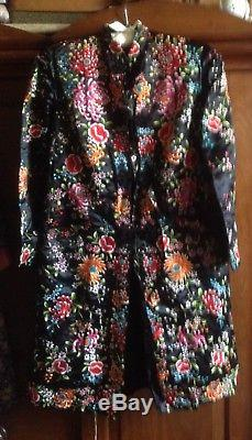 Stunning, Heavily Embroidered Vintage Jacket Pristine Condition Silk, Lined