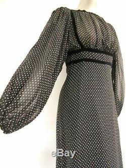 Stunning Janice Wainwright black dress sheer & lined 26 under bust US0/2 UK4/6