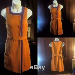 Sz M NWT Womens Missoni designer Mod Go-Go vintage Style Wool Retro Dress