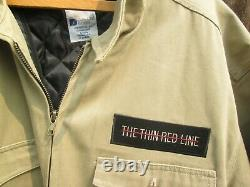 THE THIN RED LINE Vintage WWII Rangers 1998 Film Crew Jacket SEAN PENN