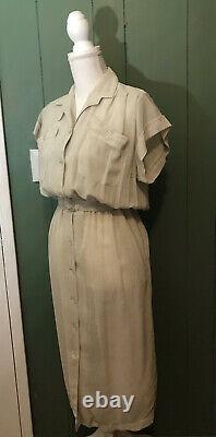 THIERRY MUGLER PAR GUDULE PARIS VINTAGE 70s BELTED Button Down Shirt Dress XS