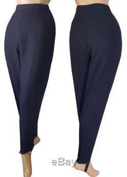 TOWN GIRL Vtg 1950s LINESMAN GABARDINE Ski Pants FLANNEL LINED Stirrups NOS S 27
