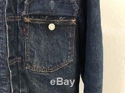 TRUE VINTAGE Levis 517xx BLANKET LINED Type 2 Denim Jacket BIG E Selvedge 38