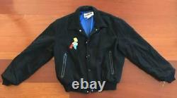 The Simpsons VTG 90s Wool Lined Varsity Jacket Size XL Bart TV Promo Animation