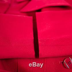 True Vintage 70's Smart Tailored Red Lined Winter Coat Small UK 10 EU 38 US 6