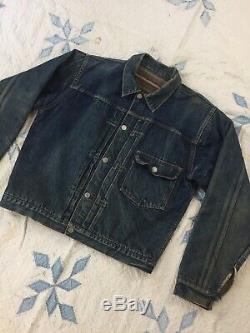 True Vintage Levis Type 1 Jacket Buckle Back Selvedge Blanket Lined Original