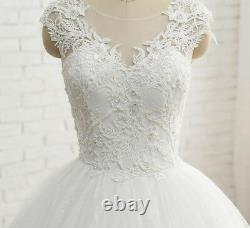 Tulle Lace Sleeveless Wedding Dress Elegant A-Line Silhouette Floor-length Gowns