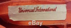 Universal International Labeled Orange & Fuchsia Silk Net Taffeta Lined Gown 34