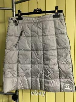 Unused Authentic Chanel Vintage Snow Line Ski Jacket Skirt 2 Piece Sets Size 38