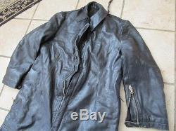 VINTAGE 1950's / 60's' HEAVY Leather Fully Lined Motorcycle Riding Suit
