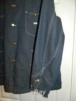 VINTAGE 1950s 1960s BLANKET LINED LEE DENIM JACKET barn coat chore jkt USA made
