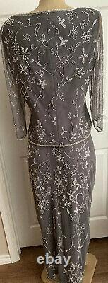 VINTAGE BOB MACKIE BOUTIQUE Embroidered LINED EVENING GOWN DRESS FORMAL WEDDING