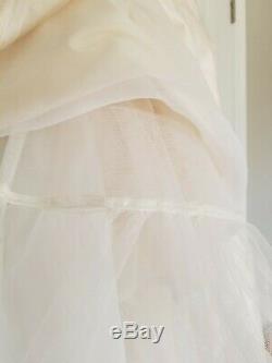VINTAGE Designer VICTOR COSTA Ivory Off White Dress Wedding A-line Size 8