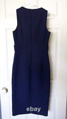 VINTAGE Michael Kors Collection Navy Blue Dress Made in Italy Size 6 Wool, Lined