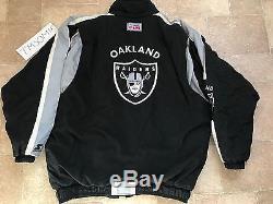 VINTAGE STARTER 90s NFL PRO LINE OAKLAND RAIDERS JACKET NWA BIG LOGO BO JACKSON