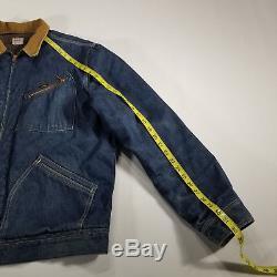 VTG 1950s LEE Jelt Cotton Denim Work Jacket 191-LB Blanket Lined 44 LONG USA