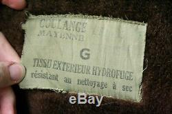 VTG 50s FRENCH NAVY MARINE NATIONALE ALPACA LINED N-1 DECK JACKET ECLAIR ZIP 46