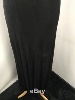 VTG 90s CACHE 2pc Tuxedo Slinky A-line Dress Blazer French Cuffs Bodycon Sz 4