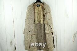 VTG! Burberrys Mens Brown Full Button Tweed Dress Long Wool Coat Size L-XL