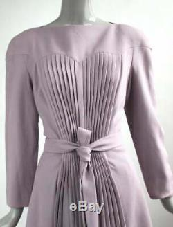 VTG F/W 1996 Givenchy Couture by John Galliano Mauve Wool Crepe Dress
