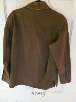VTG Filson TIN Cloth Short Cruiser Mens Medium Brown Jacket Vintage Seattle