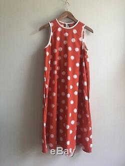 VTG Geoffrey Beene for Swirl Iconic Printed Dot Sleeveless A-Line Shift Dress S
