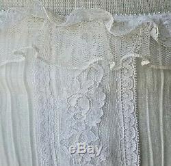 VTG Gunne Sax Jessica Mcclintock Ivory Dress Lace Beaded Trim Lined 10 (LR1)
