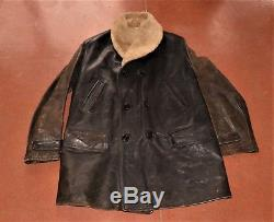 VTG Horsehide Leather Coat, Jacket, Barnstormer, Ranch, Motorcycle, Lined sz 48