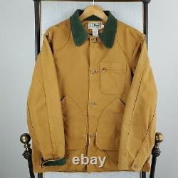 VTG LL Bean Size 42 Large Wool Lined Made in USA Mens Canvas Jacket Corduroy
