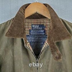 VTG POLO RALPH LAUREN Oilcloth Large Made in USA Mens Waxed Brown Jacket Coat