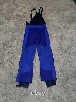 VTG Patagonia Snow Bib Ski Snowboarding Pants Suspenders Blue Mens Size 36