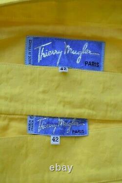 VTG Thierry Mugler Structured Power dress suit blazer jacket pencil skirt 4k 42