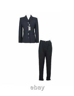 Valentino Vintage Black Wool Pants Suit Dress
