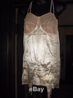 Vintage 1930's SMOOTHIE Controluer Long Line Full Corset Bustier Bra