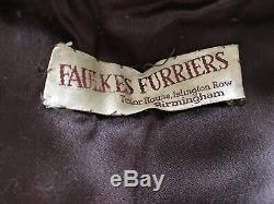 Vintage 1930s Fur Cape Stole Wrap Art Deco Pinup Bride Dyed Artic Fox Silk Lined