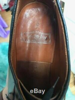 Vintage 1940s 1950s John McVey Burgundy Shell Cordovan Leather Derby Dress Shoes