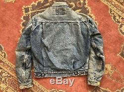 Vintage 1950s Levi's 517xx Big E Jacket Type II Selvedge Blanket Lined Denim 36