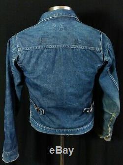 Vintage 1950s Wrangler 11MJ Champion Flannel Lined Denim 888mjl Jacket 36